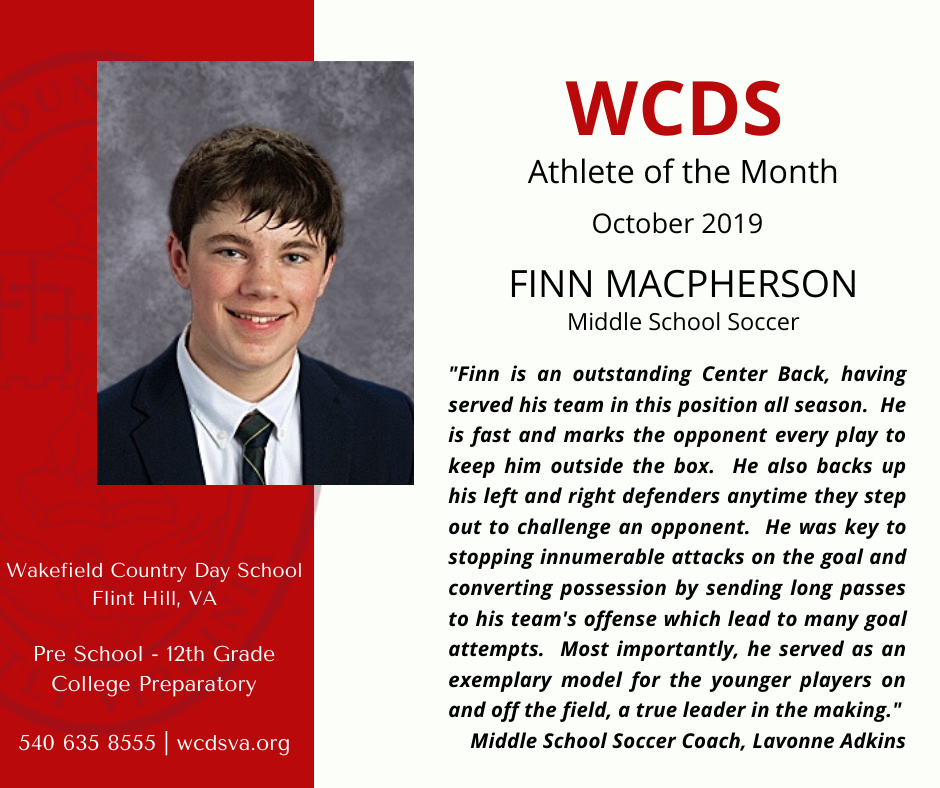 Male Athlete of the Month
