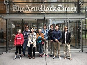Journalism class visits New York