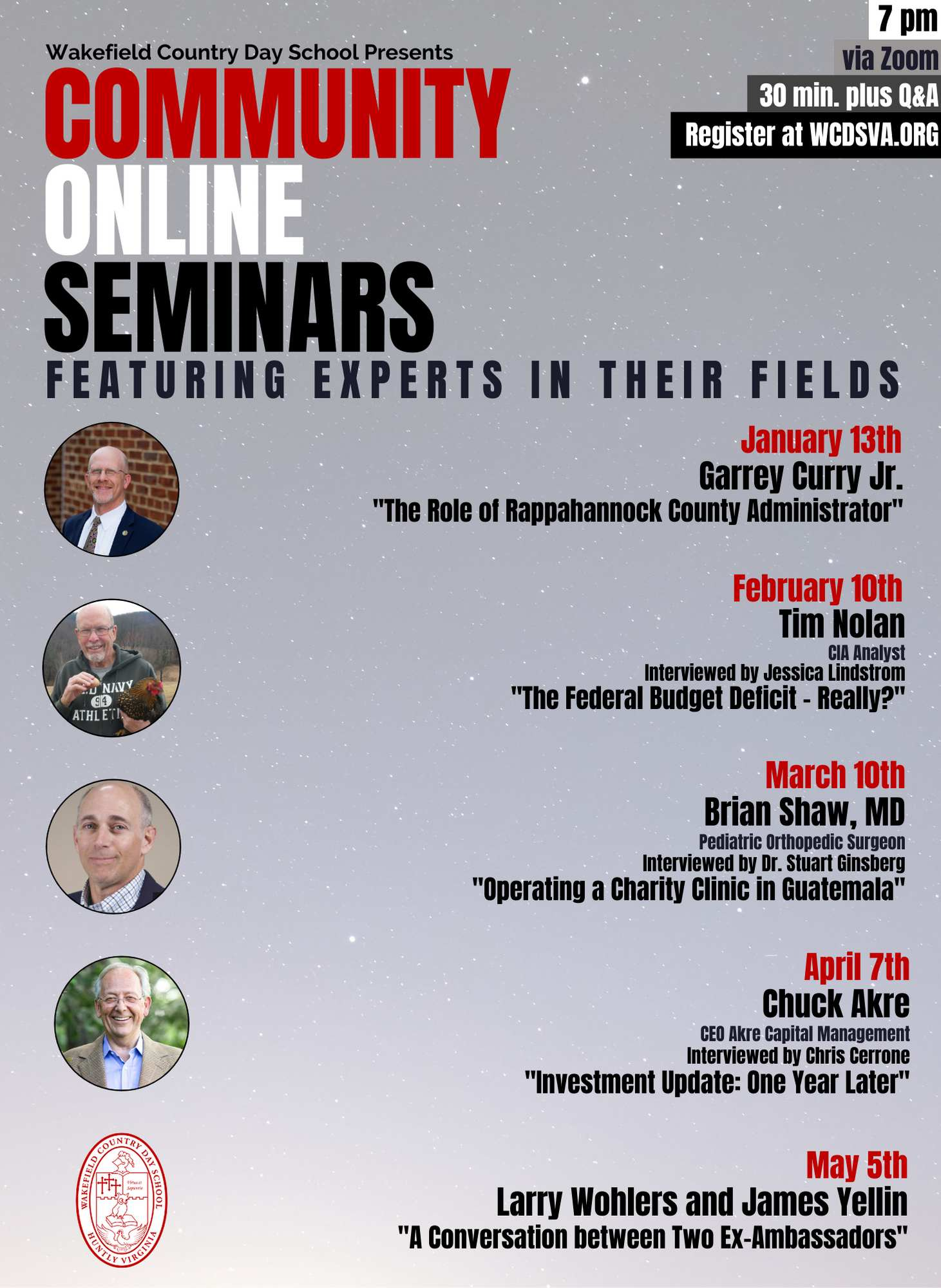 2021 Community Online Seminars